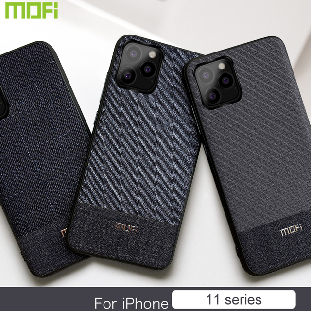 MOFi iPhone 11 Pro Max Fabric Shockproof Soft Silicon Back Case Cover