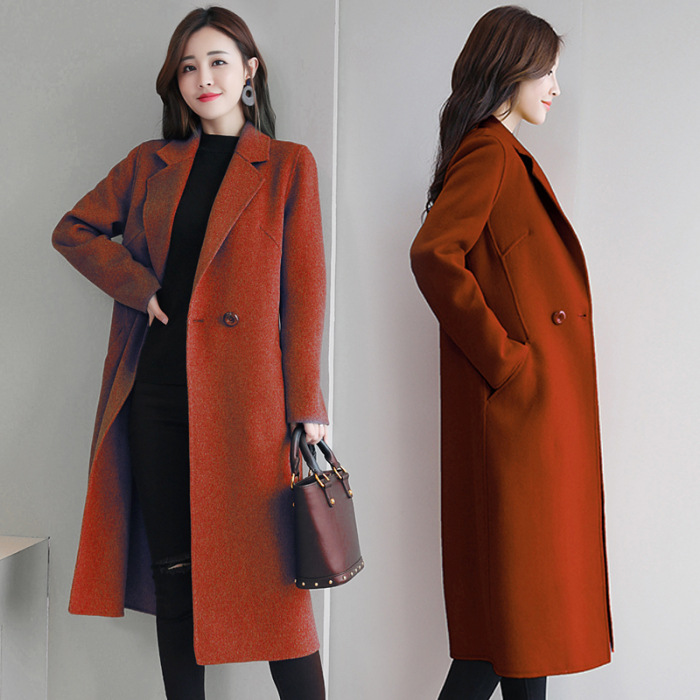 Image 2 - Womens Red Coat  Cashmere Plaid  Korean Wool Winter Coat Female Tops and Blouses  Womens Plus Size Fashions  Female Jacket B108Wool & Blends   -