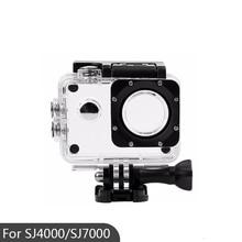 Spor eylem kamera kutusu kasa su geçirmez muhafaza için SJ4000/SJ7000/SJ4000 Wifi/SJCAM su geçirmez muhafaza kapağı