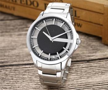 Smart Men's Stainless Steel Watch Black Dial With Luminous Hands Quartz Movement Wrist Watch Heren horloge 2020 super speed v6 v0180 racer quartz movement wrist watch for man black brown white