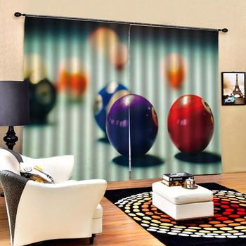 3D Window Curtain Color billiards Luxury Blackout Living Room office Bedroom Customized size
