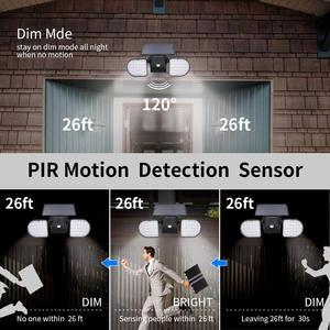Image 3 - Solar Lights Outdoor 56 LED Solar Wall Lights with Motion Sensor Dual Head Spotlights 360° Adjustable Solar Motion Lights