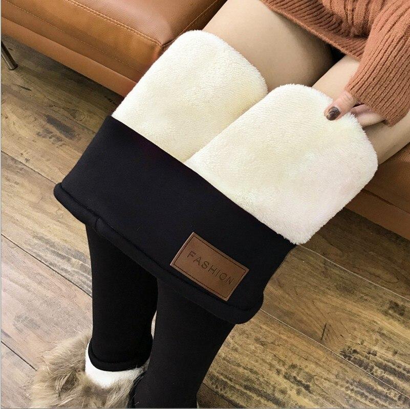 Hiver leggings épais femmes Plus velours taille haute legging mujer crayon mince noir pantalon chaud legging Femme