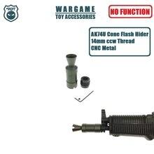 Muzzle-Device Blaster Gel-Ball Flash-Hider Aks74u-Ak Airsoft 14MM for Cone Ccw-Thread