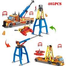 City Fire Police Helicopter Crane Bulldozer Transport Ship Building Blocks Compatible Legoed Technic Bricks Toys For Children