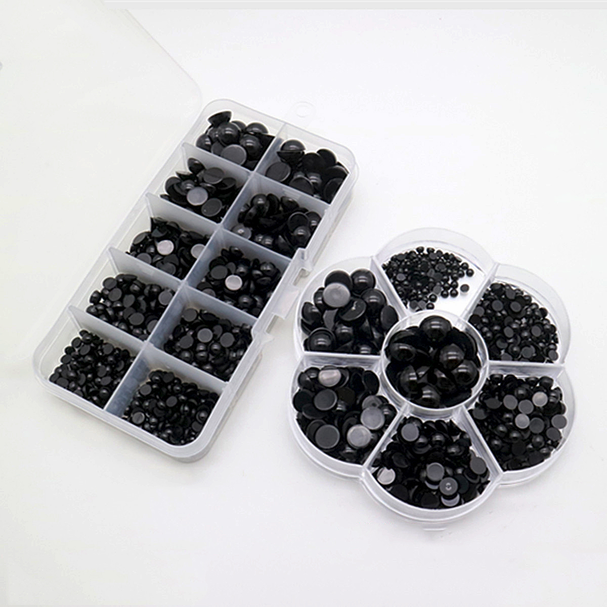3-12mm 500pcs Round Flat Black Safety Eyes Plastic Eyes For Dolls Making Toys For Teddy Bear Dolls Eyes Amigurumi Doll