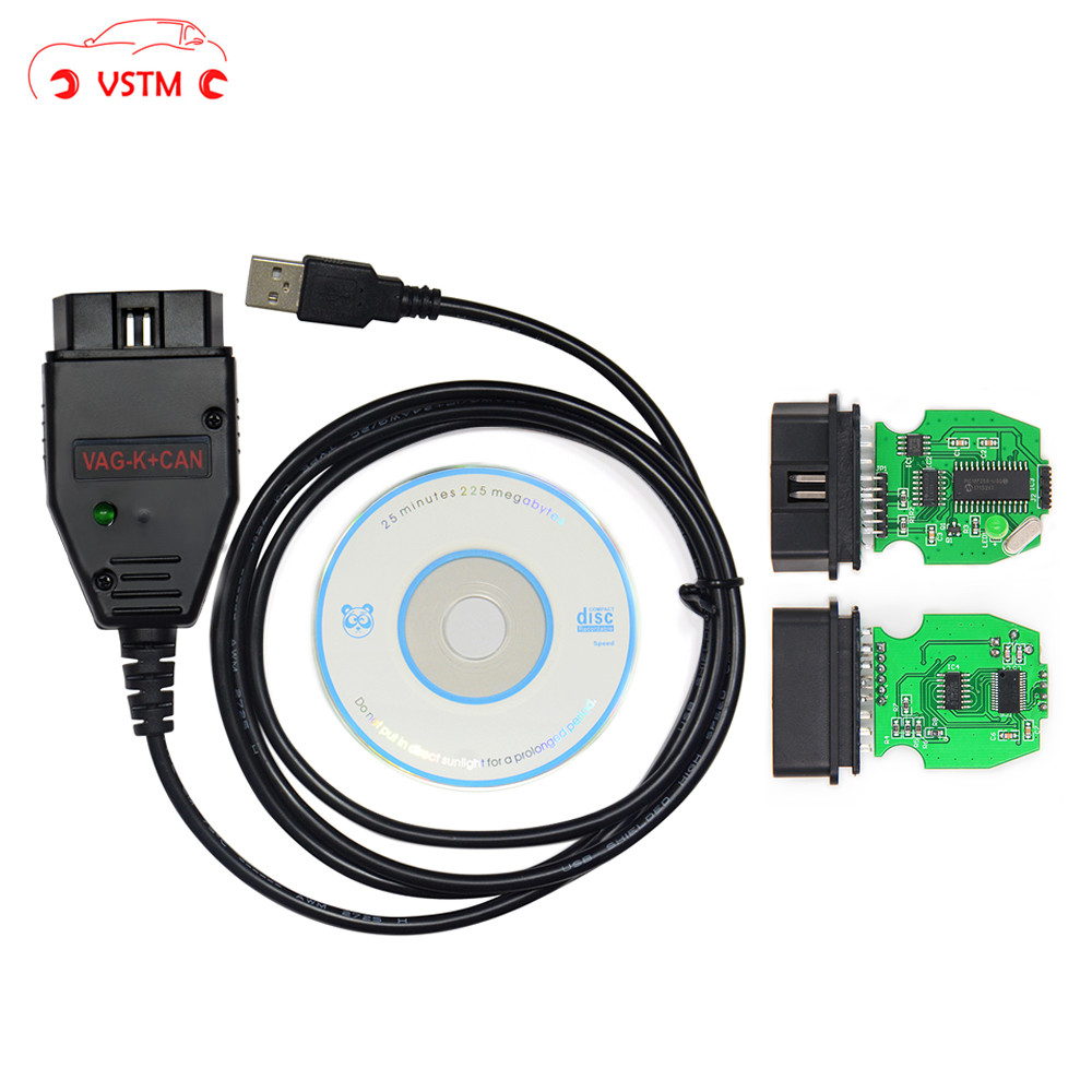 VSTM VAG K+CAN Commander 1.4 With FTDI FT232RL PIC18F258 Chip OBD2 Diagnostic Interface Com Cable
