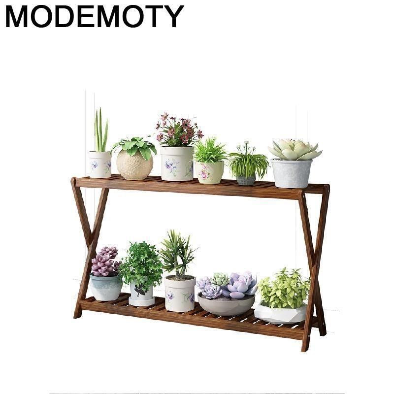 Wood Plant Huerto Urbano Madera Etagere Pour Plante Estante Para Plantas Balcony Shelf Outdoor Stojak Na Kwiaty Flower Stand