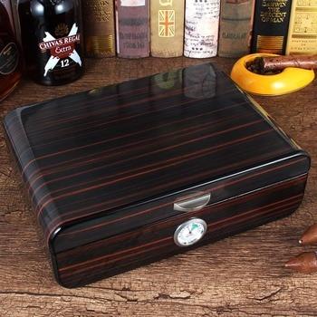 GALINER Cedar Wood Cigar Humidor De Puros Luxury Big Humidor Box Home Cigar Case For Cohiba Cigars W/ Hygrometer Humidifiers galiner cedar wood cigar humidor de puros luxury big humidor box home cigar case for cohiba cigars w hygrometer humidifiers