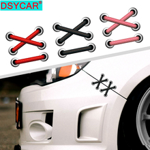 цена на DSYCAR 1Pcs Shoelaces Car Stickers Parallel Cross Fender Decorative Stickers Door Pattern Auto for Removable Whole Body Stickers
