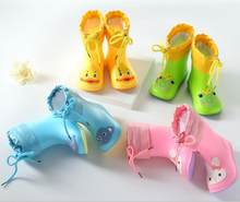 2020 Hot New Fashion klasyczne dziecięce Rainboots guma pvc dziecięce dziecięce buty z obrazkami dziecięce buty do wody wodoodporne kalosze
