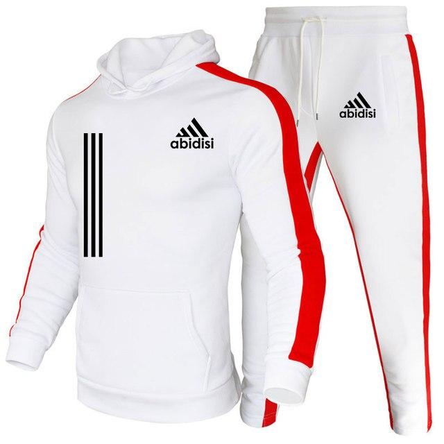 Chándal de marca de moda para hombre, conjunto de Sudadera con capucha y pantalones de chándal, ropa informal, Otoño, novedad 1