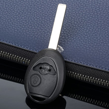 2 Buttons Auto Key Shell Case Auto Replacement Fob Cover Fit For BMW Mini Cooper Uncut Blade Blank Key Shell Car Covers
