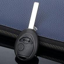 2 tasten Auto Schlüssel Shell Fall Auto Ersatz Fob Abdeckung Fit Für BMW Mini Cooper Uncut Klinge Blank Key Shell auto Abdeckungen