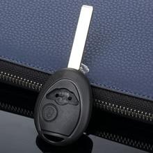 Carcasa para llave de coche con 2 botones, funda para mando a distancia de repuesto para BMW Mini Cooper sin cortar, cubierta para llave ciega para coche