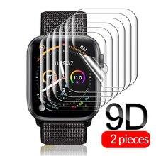 2-1 sztuk ochronne miękka folia dla iwatch 6 folia zabezpieczająca ekran na zegarek seires 6 5 4 44 40 mm akcesoria do smartwatchów nie szkło