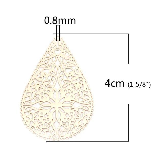 Фото doreenbeads 10 шт модные медные подвески золото висячие серьги цена