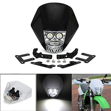 Мотоциклетный головной светильник, двойной светодиодный светильник 5 Вт 12 В, универсальный модифицированный головной светильник, головной светильник для мотоцикла, грязи, питбайк, forMX XC EX