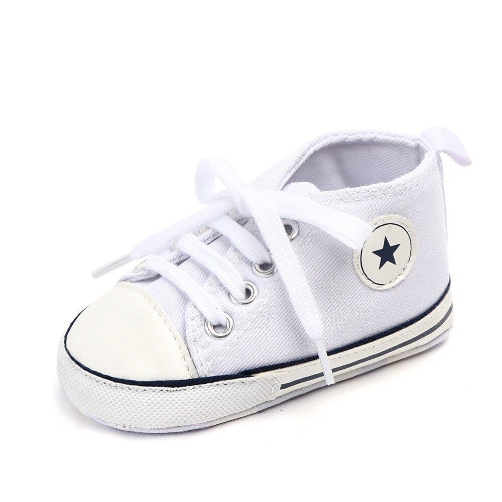 Chaussures bébé Garçon Fille Solide Sneaker Coton Doux Semelle Antidérapante Nouveau-Né Infantile Premiers Marcheurs Bambin décontracté Sport Chaussures de Berceau 26