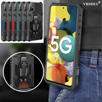 With Belt Clip Shockproof Armor Case For Samsung Galaxy A51 A71 A31 A41 A 20 50 70 M 01 10 30 S M 51 31 21 11 S20 FE Note 20 10