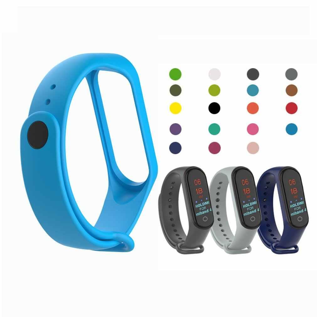 צבעוני עבור mi band 4 אביזרי עבור mi band 4 רצועת החלפת סיליקון Wriststrap עבור xiaomi mi4 חכם צמיד צמיד
