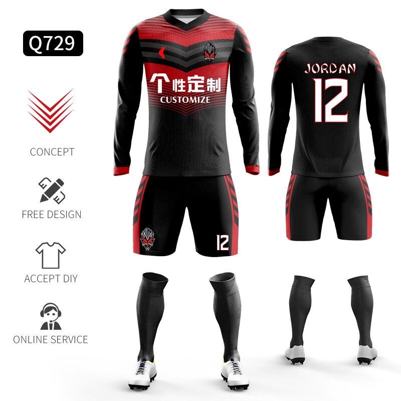 Custom Football Jerseys Full Sublimation Printing Soccer Jerseys Club Team Football Training Uniform Suit Soccer Uniform For Men 11
