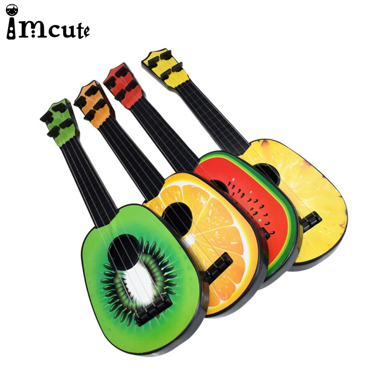 2020 Infrant Baby Educational Musical 7Styles Instrument Children Mini Fruit Guitar Toy Ukulele Toys Guitar Gifts For Kids