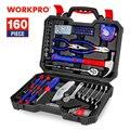 WORKPRO 160PC hause Werkzeug Set Hand Werkzeuge für Den Täglichen Gebrauch Househould Werkzeug Kits Schraubendreher-set Schlüssel Messer Zangen