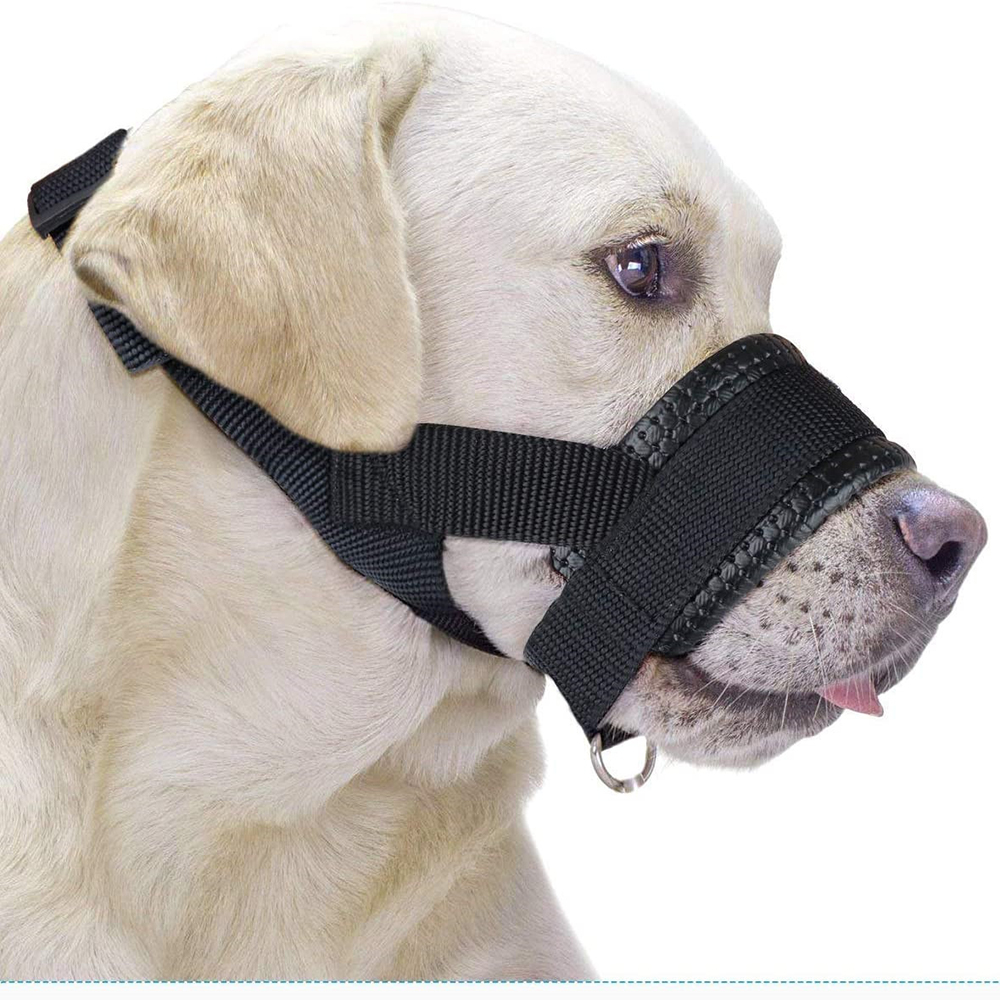 Nylon Dog Muzzle for Small,Medium,Large Dogs Prevent from Biting,Barking and Chewing,Adjustable Loop