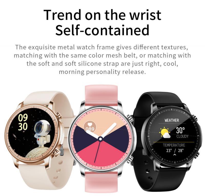 CHMORA Smartwatch Nouveau podom/ètre de Sport pour Hommes et Femmes P9 Moniteur de fr/équence Cardiaque Fitness Tracker /écran Tactile Bracelet Intelligent Montre Montre Intelligente iOS