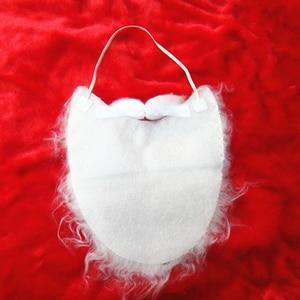 1pcs Xmas Santa Claus Beard Christmas Claus Curly Wig Props Beard for Cosplay Christmas Party Favors A30