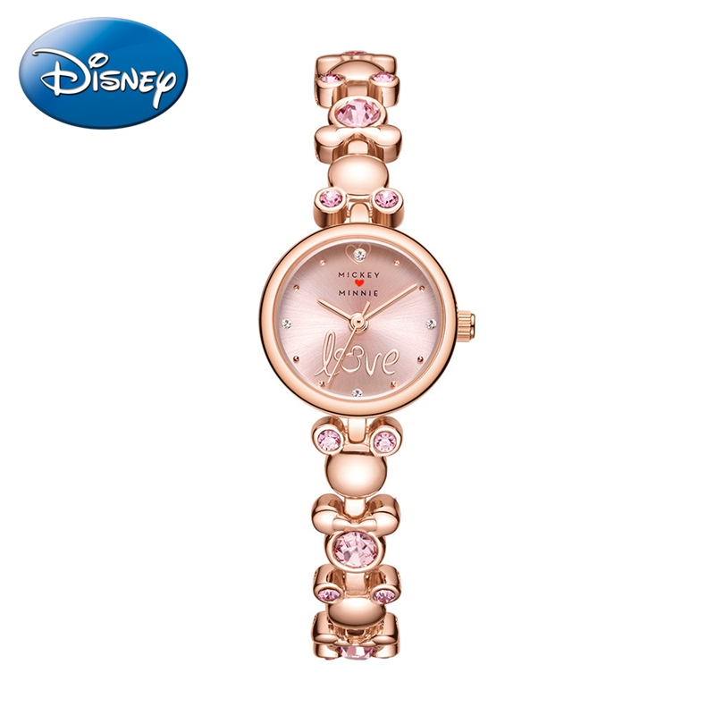 Minnie Beautiful Girl Bracelet Wrist Watches Fashion Women Stainless Steel Luxury Brand Clock Female Casual Rose Gold Time Gift