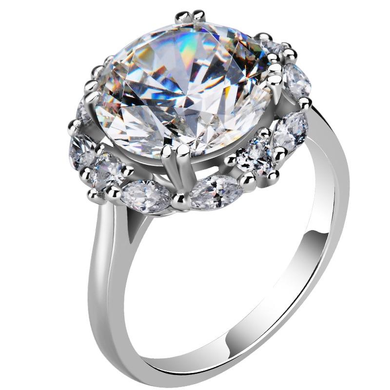 1.5 Carats Moissanite Ring 14K White Gold Jewelry Bijoux Femme Natural Bizuteria Wedding Anillos De Gold Gemstone Ring for Women