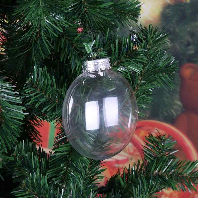 Christmas Clear Ball Plastic Bell Star Tree Bauble Hanging Ornament Pendant DIY