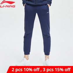 Li-Ning Men Training Sweat Pants Comfort Regular Fit 70% Cotton 30% Polyester LiNing li ning Sport Pants Trousers AKLP147
