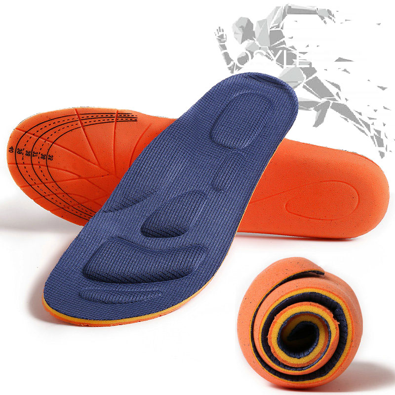 Memory Foam Sports Running Insoles Orthotic Arch Support Shoes Insole Man Women Flat Feet Breathable Orthopedic Insoles For Feet