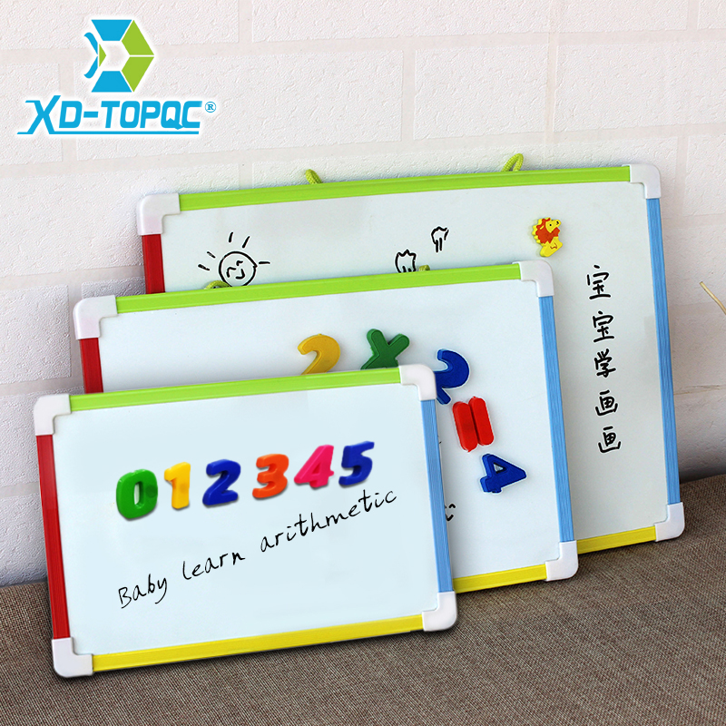 3 Style Kids Whiteboard Magnetic Dry Eraser White Board With Free Gifts Number Magnets Preschool Children Memo Message Boards
