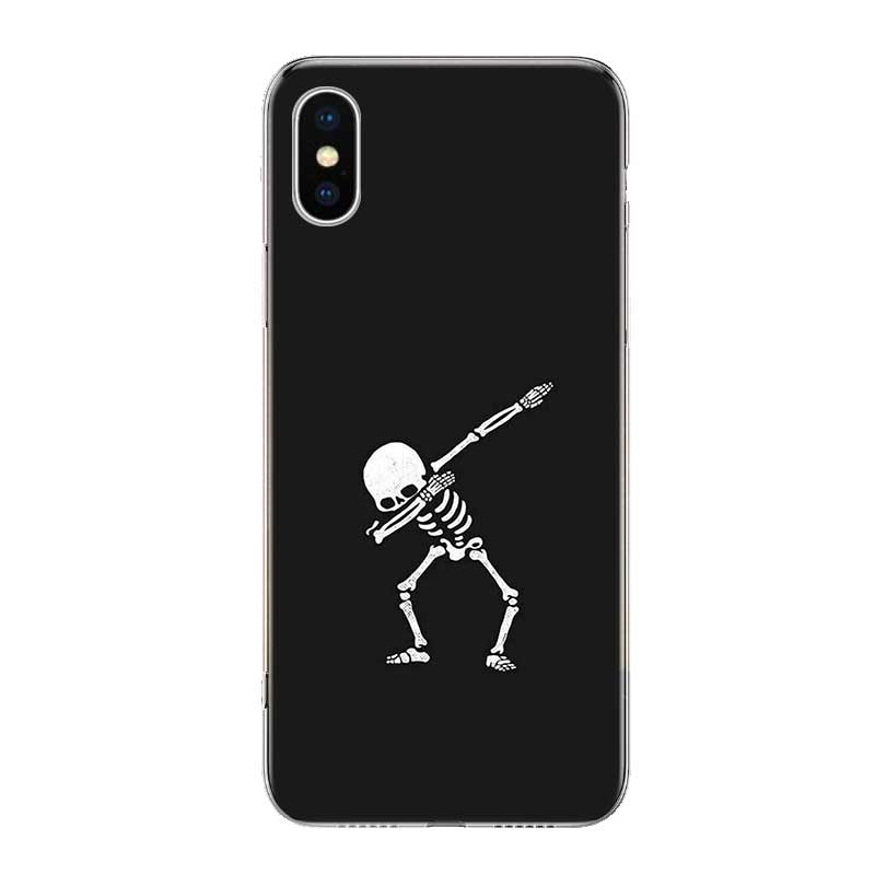 Uyellow Pirates Skull TPU Trend Cover For Iphone 5 6S 7 8 9 10 Plus Silicone Soft Phone Case For Apple X XR XS MAX Coque Shell in Fitted Cases from Cellphones Telecommunications