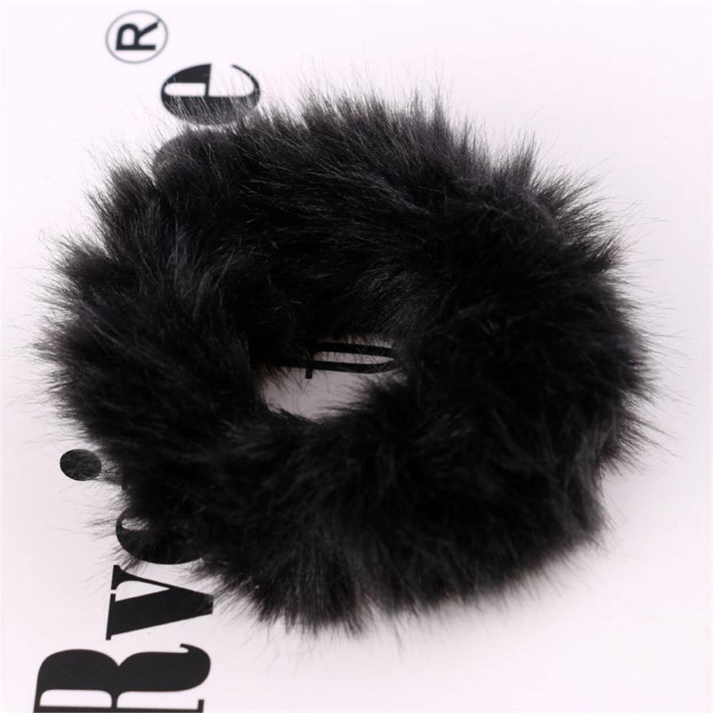 Корейский женский ободок для волос для девочек, полосатые женские резинки для волос, конский хвост, Женский держатель, веревка с ананасовым принтом, аксессуары для волос - Цвет: fur 2