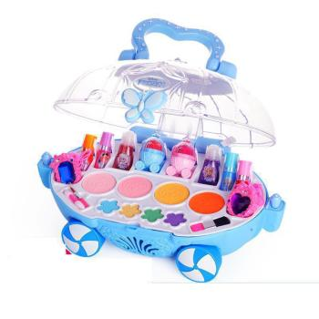 Original Disney Children Make Princess Mini Makeup Car Toys Gift Birthday Family  Kids For Girls D22739B