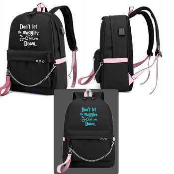 IMIDO Lumious Students Backpacks Women Personality Usb Charging Candy Color Girl Travel Bags Teenagers Canvas Fashion Schoolbags