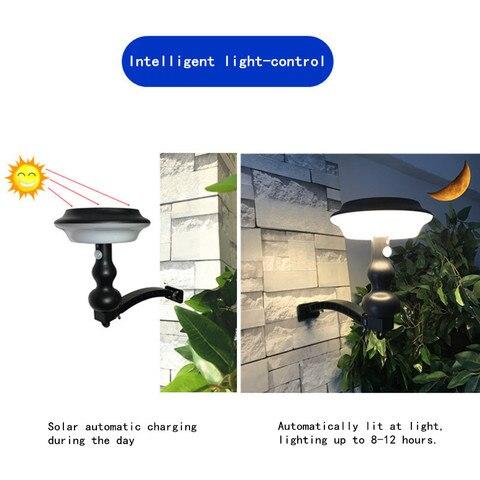 4 modos de led solar luz ao