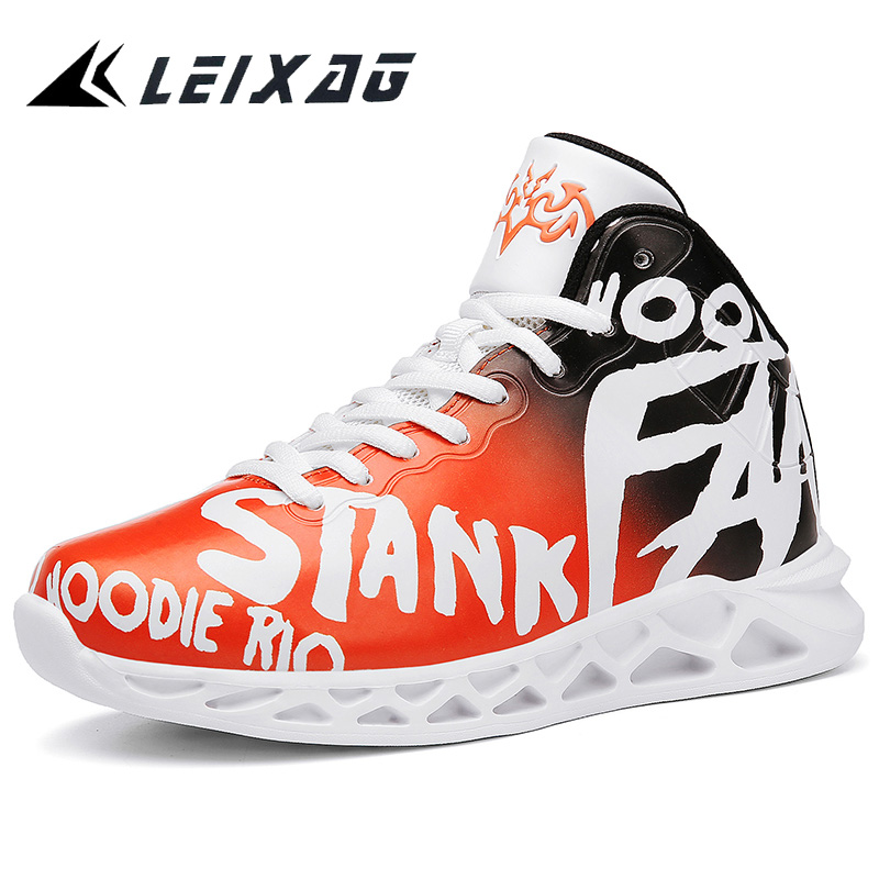 LEIXAG Student's Basketball Shoes Breathable Outdoor Anti-skid Kids Sneakers Boy Basketball Training Shoes Teens Jordan Shoes
