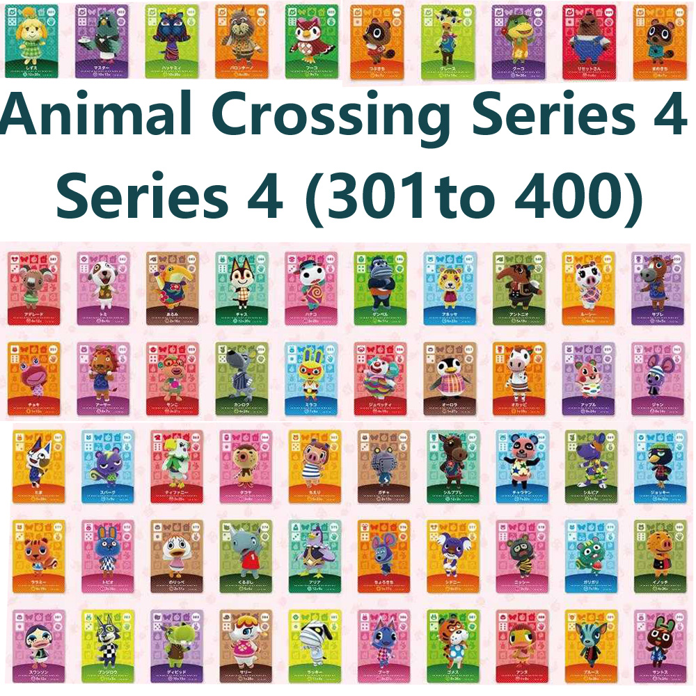 Series 4 (301 To 400) Animal Crossing Card Amiibo Locks Nfc Card Work For NS Games Series 4 (301 To 400)