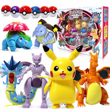 Pokemon brinquedos pokeball conjunto pop-up elf-bola anime figura monstro pikachu charizard figura de ação modelo charmander crianças brinquedos