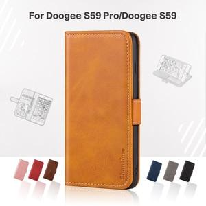 Image 1 - Flip כיסוי עבור Doogee S59 פרו עסקי מקרה עור יוקרה עם מגנט ארנק מקרה עבור Doogee S59 טלפון כיסוי