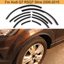 Para q7 arco da roda fender flares laterais do carro cobre guarnições para audi q7 rsq7 sline 2006 - 2015 mate preto brilhante plutônio