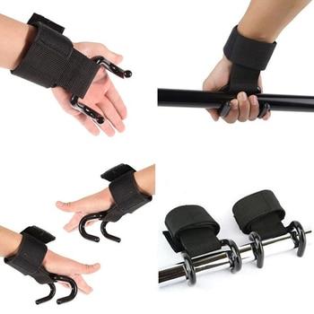 2 Pcs Weight Lifting Hook Hand Bar Wrist Straps Glove Weightlifting Strength Training Gym Fitness Hook Support Lift Grip Belt 3