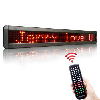 цена на 7*80Dots RS232 LED Sign Moving Message Display Programmable LED display Board for Business, Car, Store Advertising LED Screen