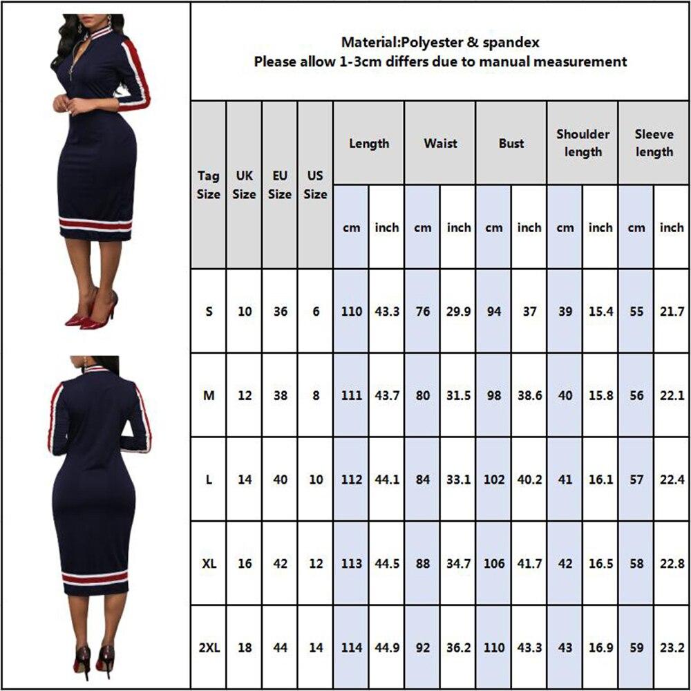 2020 Spring Women Long Sleeve Sport Style Dress Silver Zipper Half Neck Stripe Color Matching Dress Stretch Bodycon D30